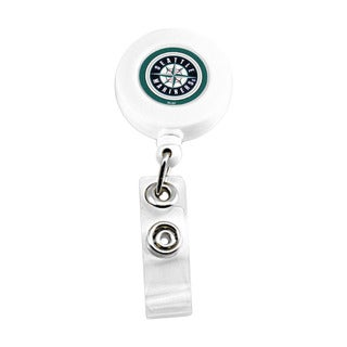 Seattle Mariners Retractable Badge Reel Id Ticket Clip MLB White