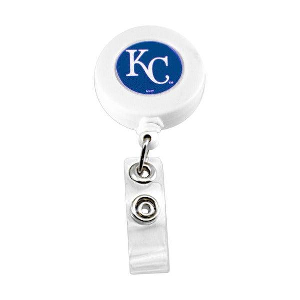 Kansas City Royals Retractable Badge Reel Id Ticket Clip MLB White