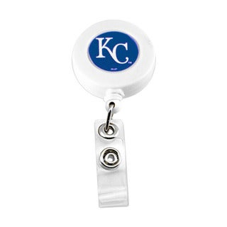 Kansas City Royals Retractable Badge Reel Id Ticket Clip MLB White
