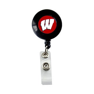 Wisconsin Badgers Retractable Badge Reel Id Ticket Clip NCAA