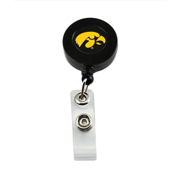 Iowa Hawkeyes Retractable Badge Reel Id Ticket Clip NCAA