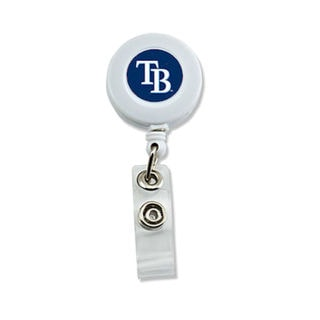 Tampa Bay Rays MLB Retractable Badge Reel Id Ticket Clip White