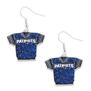 NFL New England Patriots NFL Glitter Jersey Dangle Earring Set Charm Gift