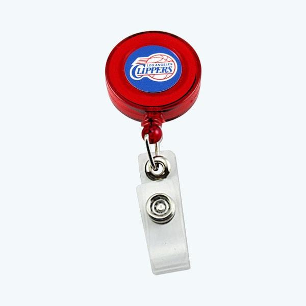 LOS Angeles Clippers NBA Retractable Badge Reel Id Ticket Clip