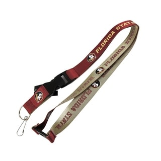 Florida State SemiNoles NCAA Reversible Lanyard Keychain Ticket ID Holder