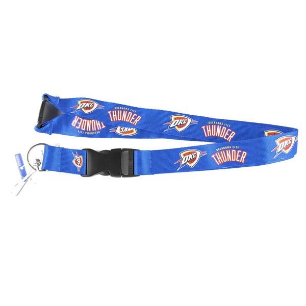 Oklahoma City Thunder NBA Clip Lanyard Keychain Id Holder Blue