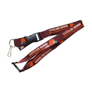 Cleveland Browns NFL Clip Lanyard Keychain Id Holder Brown