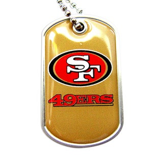 SAN Francisco 49ers NFL Dog Tag Necklace Charm Chain