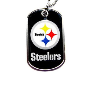 Pittsburgh Steelers NFL Dog Tag Necklace Charm Chain
