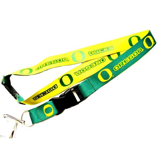 Oregon Ducks NCAA Reversible Lanyard Keychain Ticket ID Holder