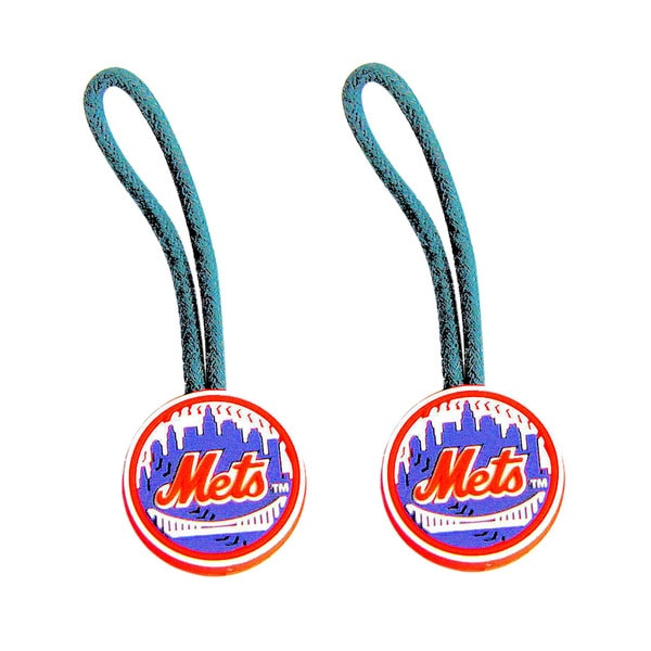 New York Mets MLB Zipper Pull Charm Tag Luggage Pet Id Set
