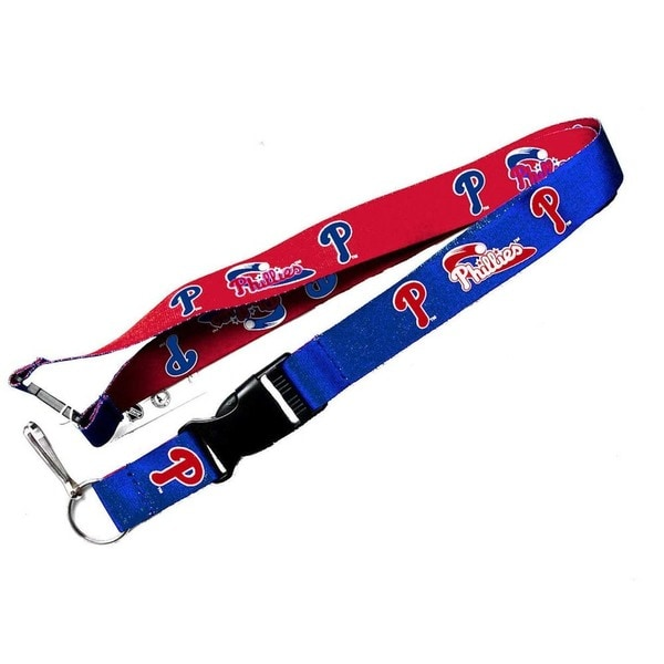 Philadelphia Phillies MLB Reversible Clip Lanyard Keychain Id Ticket Holder