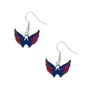 Washington Caps Capitals NHL Dangle Logo Earring Set Charm Gift