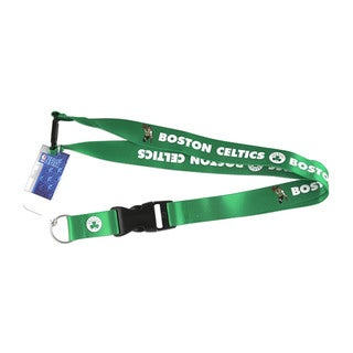 Boston Celtics NFL Clip Lanyard Keychain Id Holder Ticket - Green