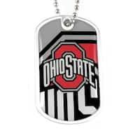 NCAA Ohio State Buckeyes Dynamic Dog Tag Necklace Charm