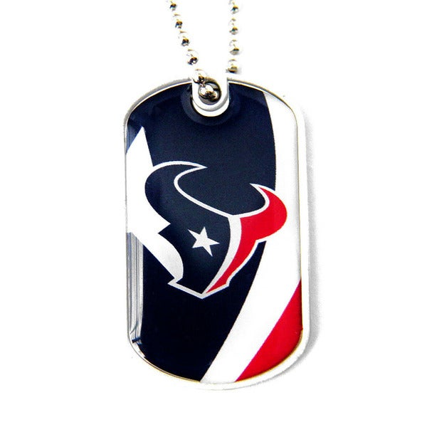 NFL Houston Texans Dynamic Dog Tag Necklace Charm