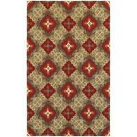 Tommy Bahama Atrium Brown/Red Area Rug - 10' x 13'