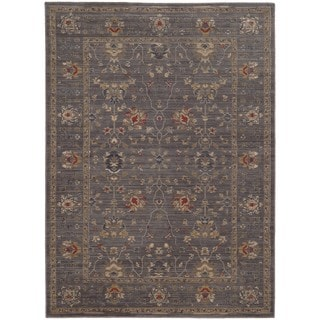 Tommy Bahama Vintage Blue/Gold Wool Area Rug (7'10 x 10'10)