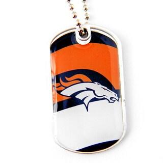 NFL Denver Broncos Dynamic Dog Tag Necklace Charm