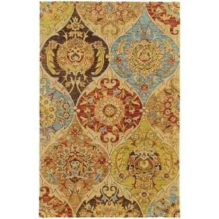 Tommy Bahama Jamison Beige/ Multi Wool Area Rug (8'x10') - 8' x 10'