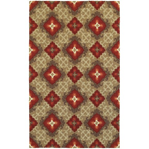 Tommy Bahama Atrium Brown/Red Area Rug - 8' x 10'