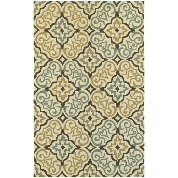 Tommy Bahama Atrium Ivory/ Brown Area Rug - 8'x10'