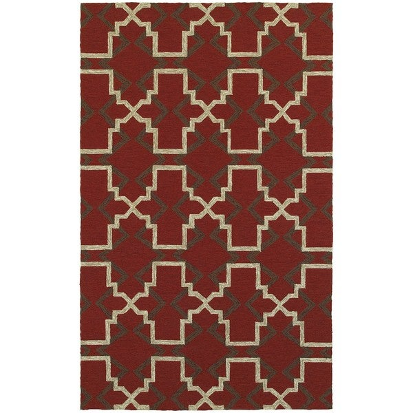 Tommy Bahama Atrium Red/Brown Area Rug (8' x 10') - 8' x 10'
