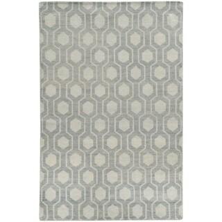 Tommy Bahama Maddox Blue/Beige Wool Area Rug (8' x 10') - 8' x 10'