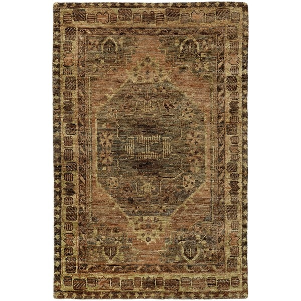 Tommy Bahama Ansley Grey/ Brown Jute Area Rug - 8'x10'