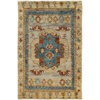 Tommy Bahama Ansley Beige/ Blue Jute Area Rug (8'x10') - 8' x 10'