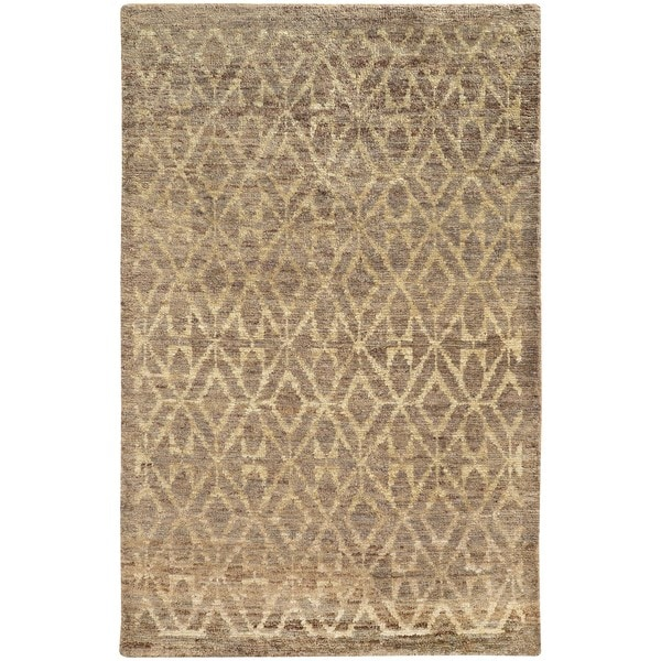 Tommy Bahama Ansley Taupe and Beige Jute Area Rug (8' x 10') - 8' x 10'