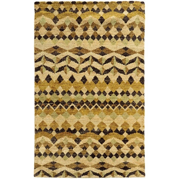 Tommy Bahama Ansley Beige/Gold Jute Area Rug (8'x10') - 8' x 10'