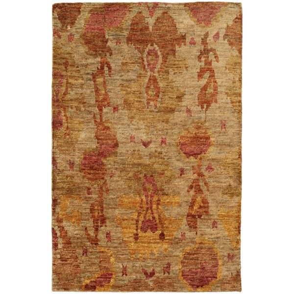 Tommy Bahama Ansley Beige/ Orange Jute Area Rug - 8' x 10'