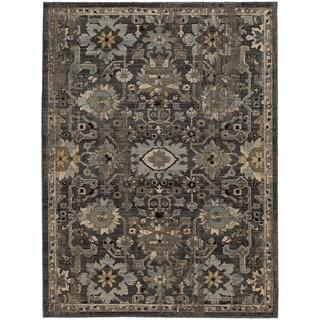 Tommy Bahama Vintage Blue/Grey Wool Area Rug - 7'10 x 10'10