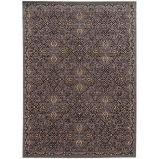 Tommy Bahama Vintage Brown/Blue Wool Area Rug (7'10 x 10'10)