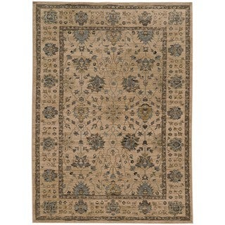 Tommy Bahama Vintage Beige/Blue Wool Area Rug (7'10 x 10'10)