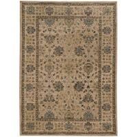 Tommy Bahama Vintage Beige/Blue Wool Area Rug (7'10 x 10'10) - 7'10 x 10'10