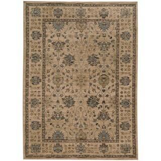 "Tommy Bahama Vintage Beige/Blue Wool Area Rug (7'10 x 10'10) - 7'10"" x 10'10"""