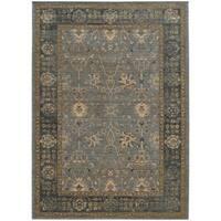 "Tommy Bahama Vintage Blue/Beige Wool Area Rug (7'10 x 10'10) - 7'10"" x 10'10"""