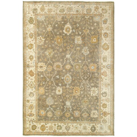 Tommy Bahama Palace Brown/Beige Wool Area Rug - 9' x 12'