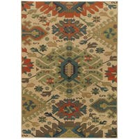 Tommy Bahama Villa Tan/Multicolored Tribal Area Rug - 9'10 x 12'10