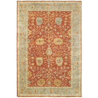 Tommy Bahama Palace Red/Grey Wool Area Rug - 8' x 10'