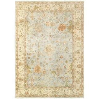 Tommy Bahama Palace Blue/Sand Wool Area Rug (8' x 10') - 8' x 10'