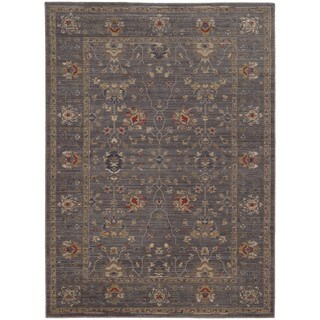 Tommy Bahama Vintage Blue/Gold Wool Area Rug (9'10 x 12'10)