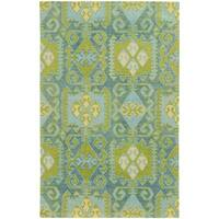 Tommy Bahama Jamison Blue/Green Wool Area Rug - 8' x 10'