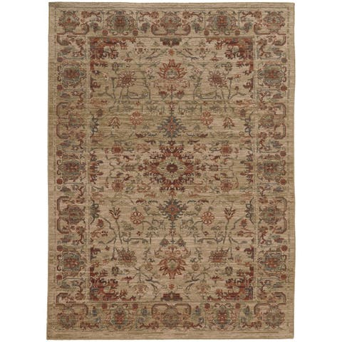 """Tommy Bahama Vintage Faded Traditional Wool Area Rug - 9'10"""" x 12'10"""""""