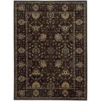 Tommy Bahama Vintage Charcoal/Blue Wool Area Rug - 9'10 x 12'10