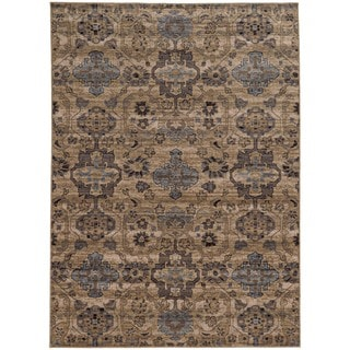 Tommy Bahama Beige and Blue Wool Area Rug (9'10 x 12'10)