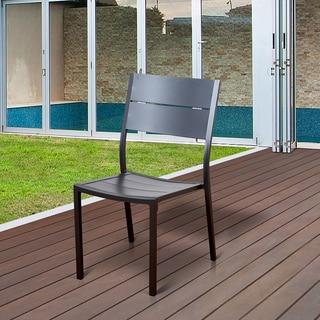 Atlantic Oscar Grey Aluminum Patio Dining Side Chairs