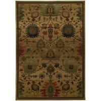 Tommy Bahama Villa Tan/Multicolor Wool Area Rug (6'7 x 9'6) - 6'7 x 9'6